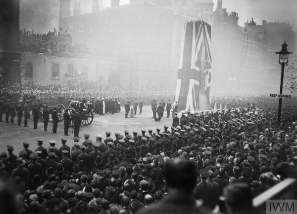 The unveiling of the Cenotaph and the funeral of the Unknown Soldier