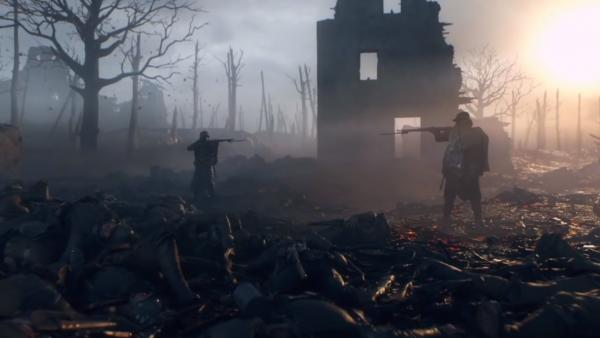Still from the opening sequence of EA DICE's 'Battlefield 1'.