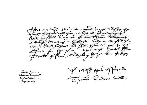 Letter from Cromwell to Lord Lisle, 30 August 1538.