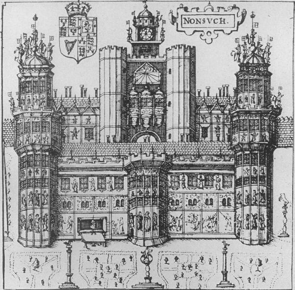 Nonsuch Palace from Speed's Map