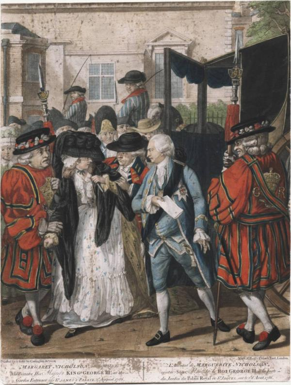 Margaret Nicholson attempting to stab George III