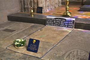 Shakespeare's Grave. Photo by David Merrett