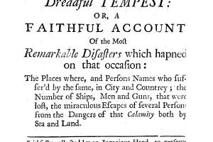 An exact relation of the late dreadful tempest