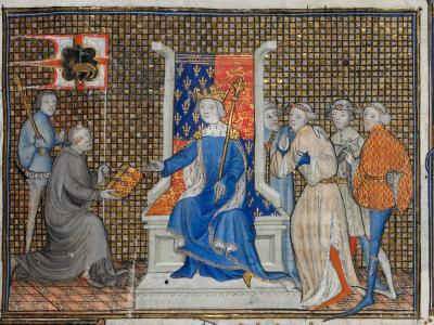 Philippe de Mezieres presents his treatise to Richard II