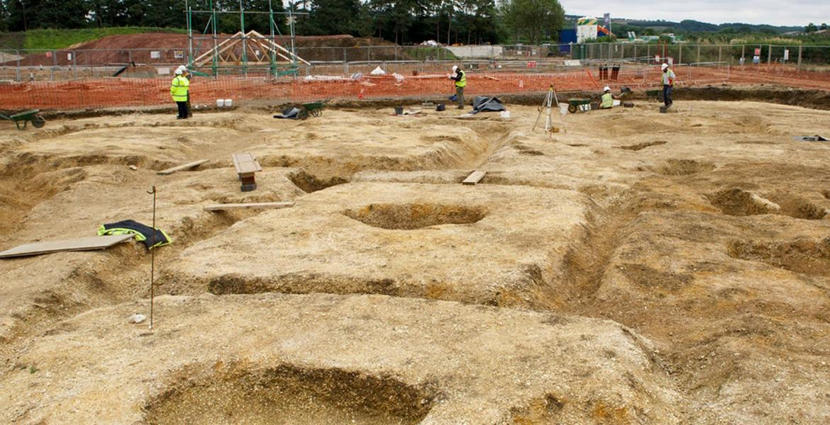 Barrow excavation Yorkshire