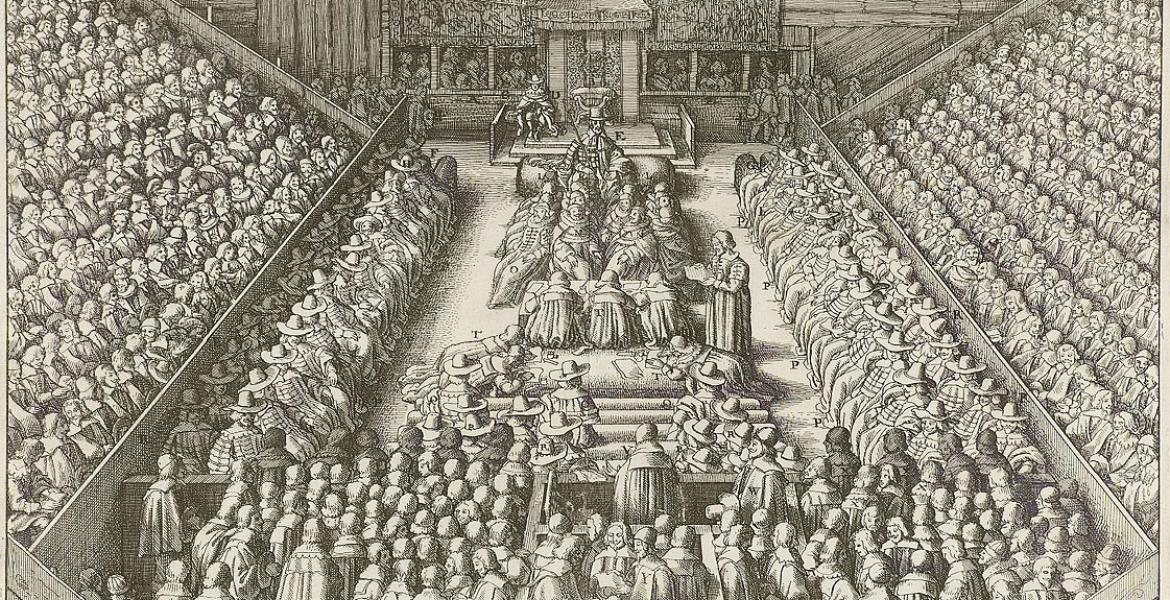 The sentencing of Strafford in parliament, 1641