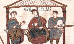 William with his half-brothers depicted in the Bayeux Tapestry