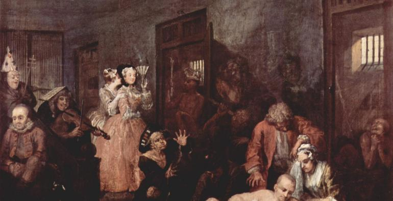 Final scene from Hogarth's 'A Rake's Progress'