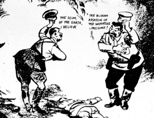 David Low's cartoon following the Nazi-Soviet Non-Aggression Pact.