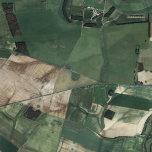 Satellite image of the Stonehenge landscape by GeoEye and Gabriel Jorby.