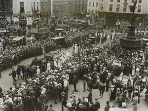 The funeral procession of Emily Davison