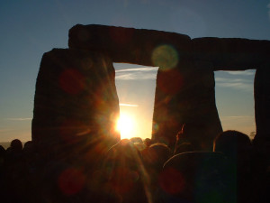 Celebrations at sunrise on the summer solstice. Picture by Nick Fitzsimons