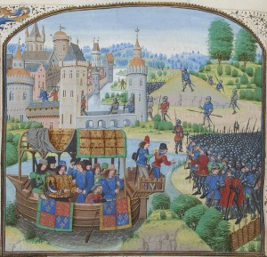 Richard II meets the rebels by boat