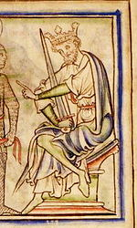 Harold Harefoot depicted in the 13th Century