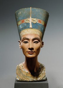 The bust of Nefertiti at the Egyptian Museum, Berlin