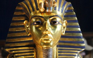The mask of Tutankhamun. Photograph: AP