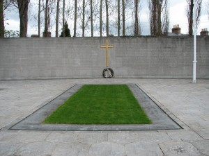 The burial spot of the leaders of the Rising, in the old prison yard of Arbour Hill prison.