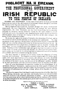 A retouched copy of the original Proclamation of the Irish Republic