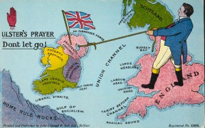 Unionist propaganda postcard produced during the Home Rule crisis.