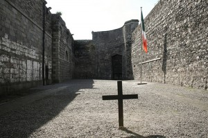 The Stone-Breakers' Yard at Kilmainham Gaol, where most of the executions were carried out. Photo by Rob McFadden.