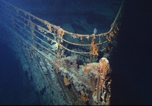 The bow of Titanic, now resting on the floor of the Atlantic