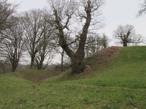 The remains of Hamstead Marshall Castle, one of the possible sites of the Newbury siege