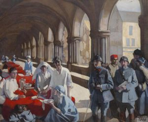 Painting of the Scottish Women's Hospital in Royaumont by Norah Neilson-Gray. IWM ART 3090