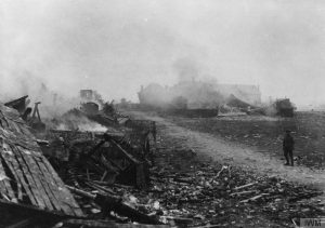 The ruined remains of an unknown village on the Somme. IWM Q.87644