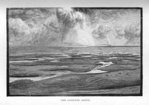 Woodcut of the Goodwin Sands
