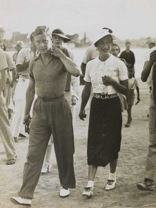 Edward and Mrs Simpson on holiday in 1936