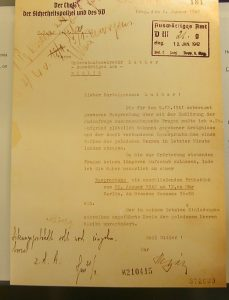 An invitation to the Wannsee Conference from Heydrich to Martin Luther, undersecretary at the Foreign Office