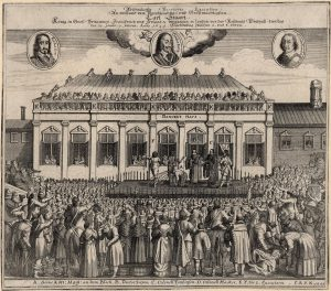 A contemporary German print of Charles I's execution